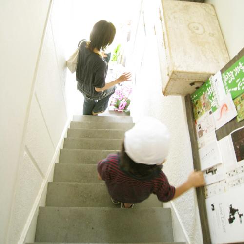ggさんの急な階段