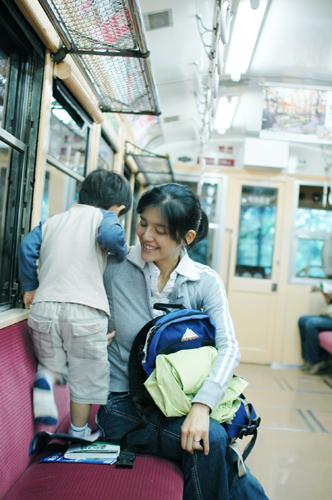 箱根登山鉄道車内