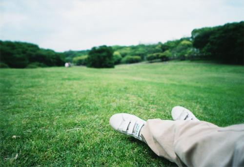 公園で考え事