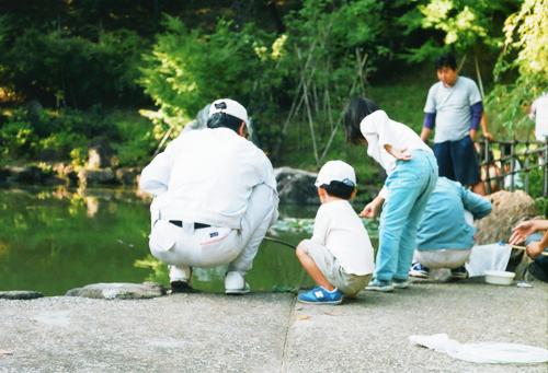 ザリガニ釣り