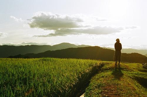原村の夕日