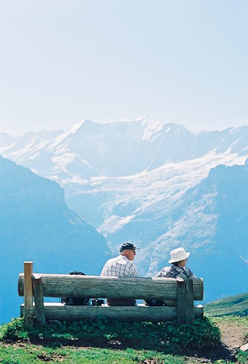バッハアルプゼーのハイキング