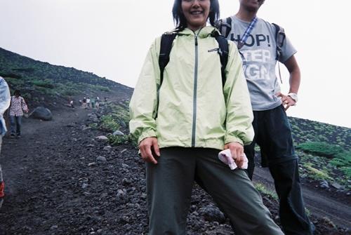 富士山にて
