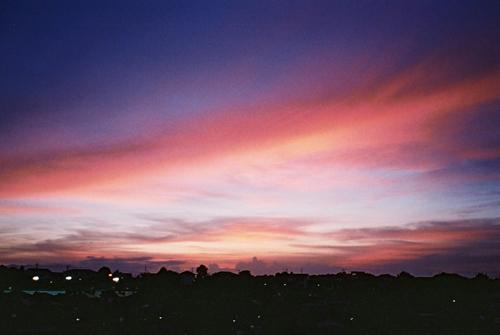 NATURAで夕焼け