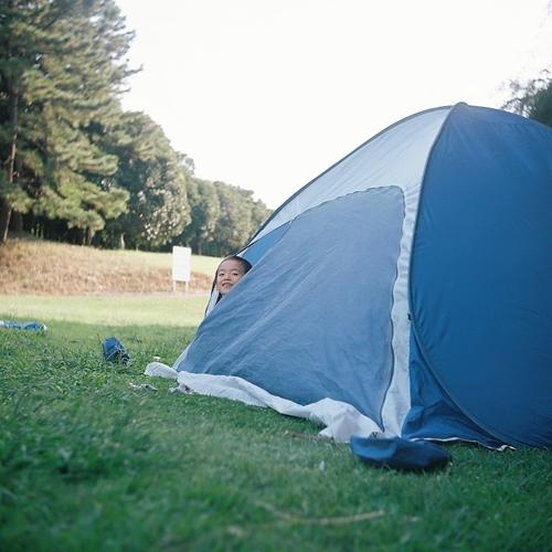 根岸森林公園でテント