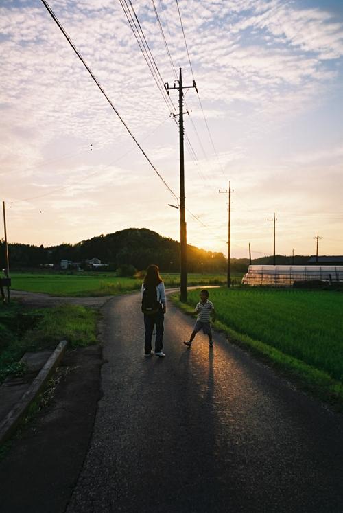 印旛村の夕方