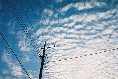 印旛村の秋の空