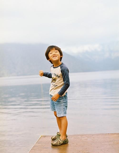 本栖湖にて