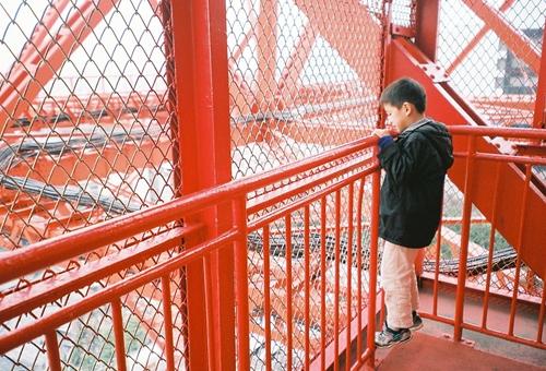 東京タワーを階段で