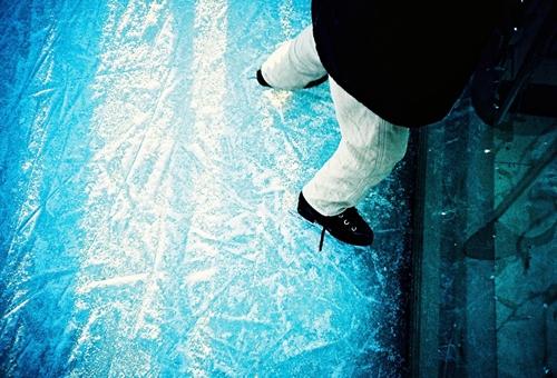 アイススケートに挑戦