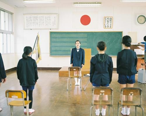卒業式の練習薩川小学校