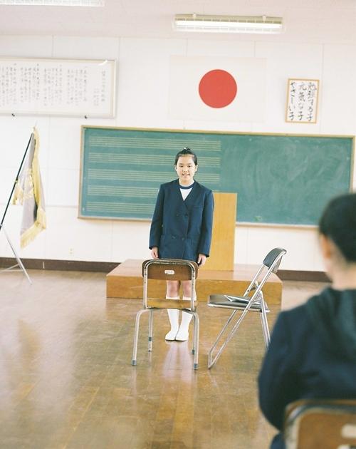 薩川小学校卒業式の練習
