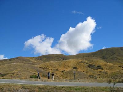 ニュージーランドの青い空